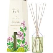 消臭・芳香剤(リードディフューザー)木と果 ゼラニウム&ベルガモット (天然精油100%使用)90ml/日本製