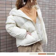 ドローストリングショート中綿コート 21077