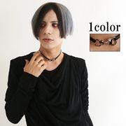 【即納】【韓国製】合皮細ベルトの手錠チョーカー(82-9970)1209/J-1
