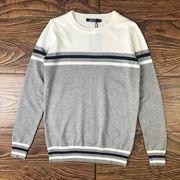 新しいデザイン 春秋 セーター 男 丸襟 韓国風 着やせ ストリーム ハンサム 洋服 薄