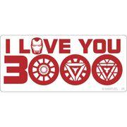 【ステッカー】アベンジャーズ4 エンドゲーム[ビッグシール]ラバーステッカー I LOVE YOU 3000 A