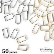 50個 【レジン 枠】 小さいレジン枠 (全2色)