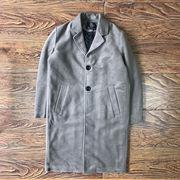 コート 男 羊毛の 手マチい プラス マチ 中長スタイル アウターウェア 秋と冬 新しい