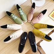 アッパー低い 靴 厚底 ささいなこと ヒール ストーム 女靴 革靴 ハンサム 靴 秋 新