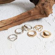 リング 3点セットメタルリング ニュアンスリング 指輪 ヴィンテージ風アクセ