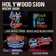 【HOLLYWOOD SIGN】NEON SIGN ネオンサイン【GUITAR OPEN他】