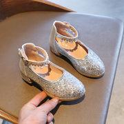女児 クリスタル靴 少女 モデル 走る 美しいです ダンス アウト 主 タイム 荷重 靴