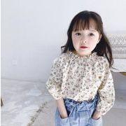 春秋 子供服 長袖Tシャツ 可愛い  韓国ファッション トップス  キッズ 花柄