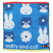 【ハンドタオル】ミッフィー ジャガードウォッシュタオル miffy and cat