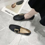 靴 女靴 春 新しいデザイン スクエアヘッド ベルトバックル 小さな靴 女性英国スタイル
