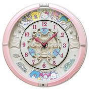 【新品取寄せ品】セイコー製 掛け時計 サンリオの人気キャラクターたちが大集合 CQ222P