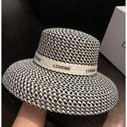 2020春夏新作 INS 麦わら帽子 上品 デザイン 欧米 ヘプバーン風 優雅 エレガント 韓国