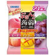 オリヒロ ぷるんと蒟蒻ゼリーパウチ ピーチ+マンゴー+グレープ