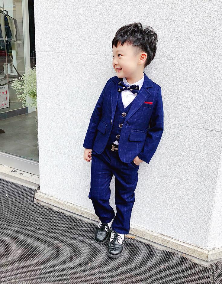 2020秋新作男子 スーツ 入園 卒業式 入学式 発表会 結婚式 3点セット こどもスーツ 3色 90-140cm