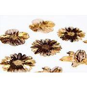 【極薄極細】花メタルパーツ フラワーモチーフ トレンドパーツ デコパーツ 銅99%高品質