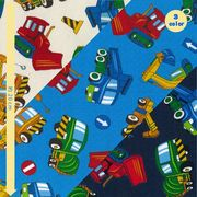 【布・生地】お気に入りシリーズ カラフルワーキングカー