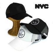 NYCライセンスMADEINワッペンメッシュキャップ ヤング帽子