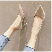 レディース結婚靴女 細いヒール ハイヒールスパンコール レッド銀色靴ウェディングベール花嫁靴