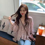 非常に 仙 ザ? 長袖 シフォンシャツ 女性服 春 新しいデザイン 韓国風 西洋風 着や