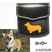 ◆犬種別 コインケース 小銭入れ 本革 レザー◆ハンドメイド 国産製◆コーギー