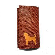 ◆本革6連キーケースとチャームのセット◆犬種カラーを選択可◆犬種全5色柴犬 秋田犬 日本犬