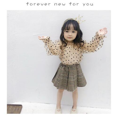 韓国ファッション 韓国子供服  2020春夏新作 子供服  トップス+スカート 2点セット 80-130