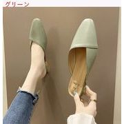 スリッパ 女 アウトドア 夏 サンダル 靴 韓国風 太いヒール ローヒール ファッション
