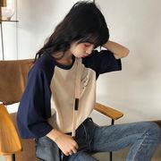 韓国風 半袖 ルースTシャツ 女性服 春 新しいデザイン 何でも似合う 西洋風 ボトムシ