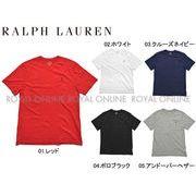 S) 【ポロ ラルフローレン】 323-674983 半袖Tシャツ ワンポイント Vネック 全5色 メンズ レディース