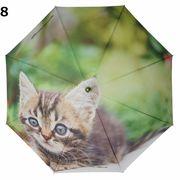 <全6柄>60cmジャンプ傘 全面フォトプリント 猫 ネコ