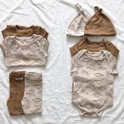 ベビーロンパース 子供服 男女兼用 ベビー カバーオール オールインワン 子供服 セットアップ
