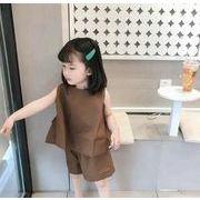 2020春夏新作 2点セット 女の子 tシャツ+パンツ 子供服 キッズ 韓国ファッション