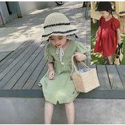 2020春夏新作 キッズワンピース 女の子 子供服 夏 ワンピース 韓国ファッション