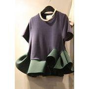 韓国ファッション新品 おしゃれフリルTシャツレディース 夏