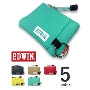 【全5色】 EDWIN エドウィン ファスナー カラフルラミネート加工 コインケース キーリング 財布 小銭入れ