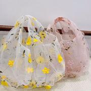 2020新作 新作 透明 刺繍 花柄 エコバッグ 夏 レディース ファッション