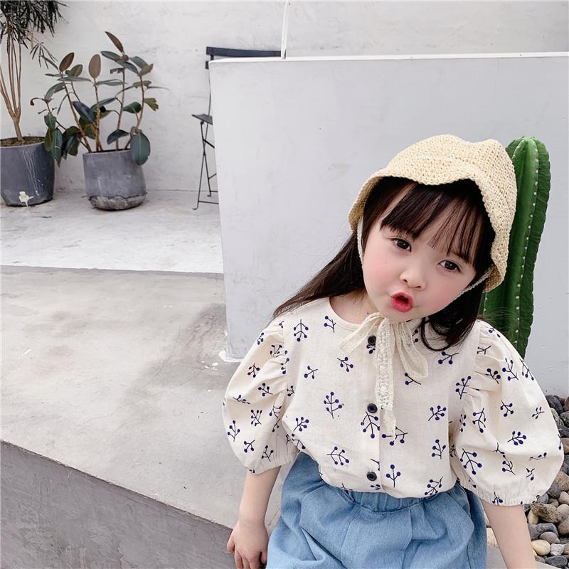 キッズ チェック シャツ Tシャツ 女の子 トップス 半袖 夏 韓国子供服 2020新作 SALE ファッション
