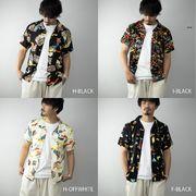 【2020新作】 アロハシャツ メンズ 半袖 開襟 オープンカラー レーヨン 半袖シャツ カジュアル トップス