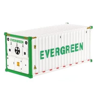 DIECAST MASTERS 20' 冷蔵コンテナ EverGreen (ホワイト)