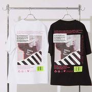 【2020春夏新作】ユニセックス カラーフォト デコレーション プリント BIG 半袖 Tシャツ