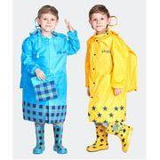 レインウェア レインコート 子供 雨合羽 防水 カッパ 男女兼用 ポケットレインコート