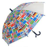 子どもが喜ぶキッズビニール傘 【国旗】 子ども傘 50cm