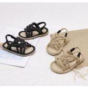 【子供靴】サンダル 女の子 可愛いデザイン ベビー 夏 2色 シューズ キッズ靴