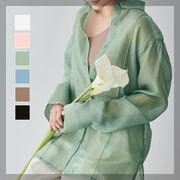 【即納】★2020春夏新作★【レディース】ピンタックシアーシャツ 全6色 [jkd0019]
