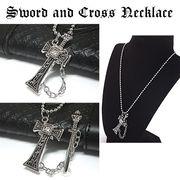 剣のクロスケースネックレス