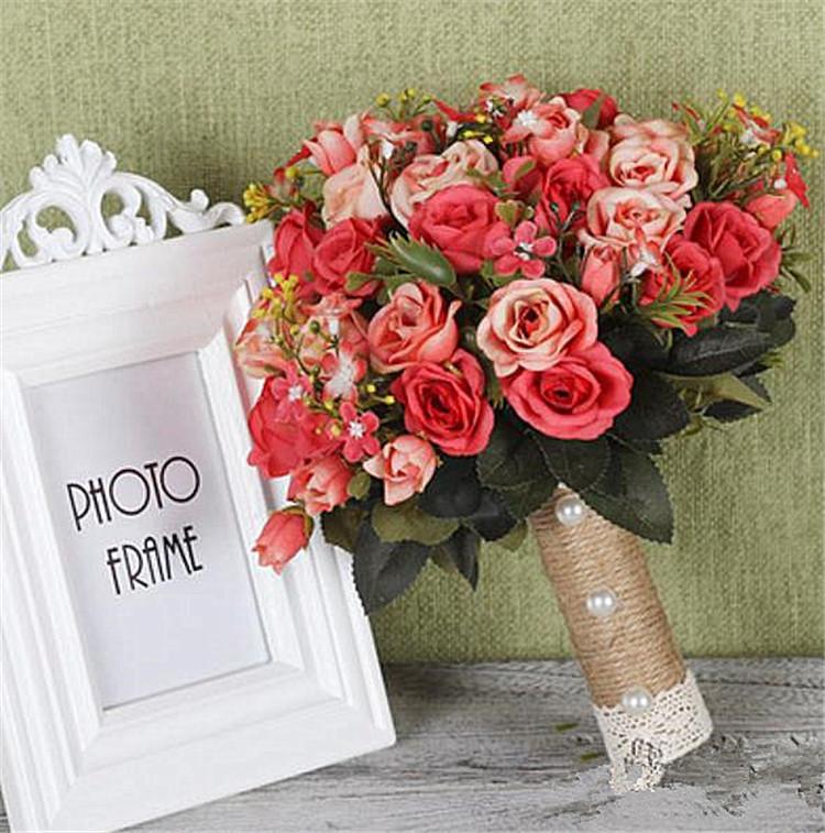 花嫁 新着 シミュレーション sweet系 手持ちの花 結婚式 韓国の結婚式 小さい新鮮な ブーケ