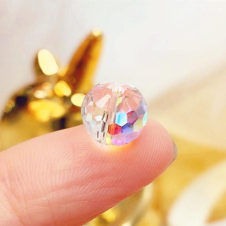 スワロフスキー ビーズ ガラスビーズ クリスタル ガラス パーツ ラインストーン 10mm