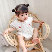 赤ちゃん トップス チェリー柄 連体衣 可愛い オールインワン 韓国子供服 ファッション 2020新作 SALE