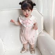 トップス 蝶結び 連体衣 プリンセス 可愛い 赤ちゃん  韓国子供服 ファッション 2020新作 SALE