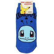 【靴下】ポケットモンスター レディースソックス ゼニガメとロゴ